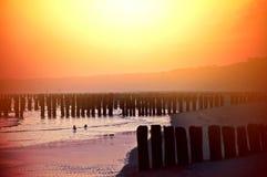 Sunset over beach. Stock Photo