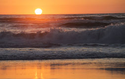 Sunset over the beach. New Zealand Royalty Free Stock Photography