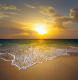 Sunset over the beach Royalty Free Stock Photography