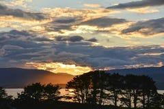 Sunset over Beara Peninsular Stock Photo