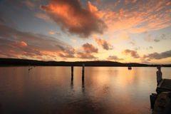 Sunset over Beautiful Bensville Central Coast, Australia Royalty Free Stock Photo