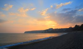 Sunset over Beer Head. In East Devon on the Jurassic Coast Royalty Free Stock Images