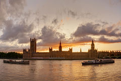 Sunset over Big Ben Stock Image