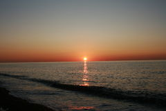 Sunset over the Black Sea Royalty Free Stock Photos