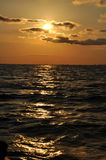 Sunset over the Black sea, Romania Royalty Free Stock Images