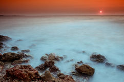 Sunset over Black Sea Royalty Free Stock Photography
