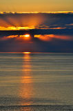 Sunset over the Black Sea, Sochi Stock Photography