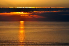 Sunset over the Black Sea, Sochi Royalty Free Stock Photo