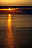Sunset over the Black Sea, Sochi: dark clouds Stock Photography