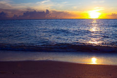 Sunset over boca grande, florida royalty free stock photo