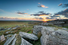 Sunset over Bodmin Moor Royalty Free Stock Image