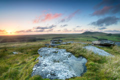 Sunset over Bodmin Moor Stock Images