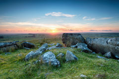 Sunset over Bodmin Moor Royalty Free Stock Images