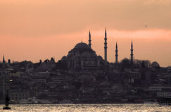 Sunset over Bosphorus, Istanbul, Turkey Stock Image