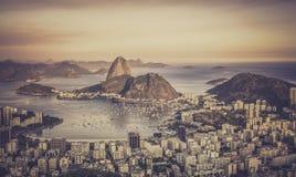 Sunset over Botafogo Bay in Rio de Janeiro Stock Photo