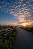Sunset over Boterhuispolder. Sunset over the Boterhuispolder a recreational area and bird reserve, near Leiderdorp, the Netherlands Stock Images