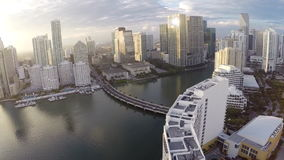 Sunset over brickell Royalty Free Stock Image