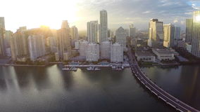 Sunset over Brickell Stock Image