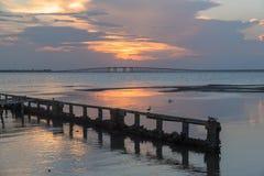 Sunset at sea royalty free stock image