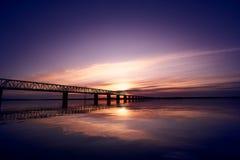 Free Sunset Over Bridge Through Zeya River Stock Photography - 182654782