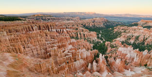 Sunset over Bryce Canyon National Park, UT Royalty Free Stock Photos