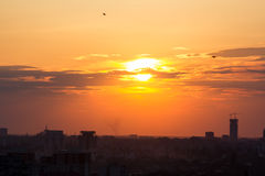 Sunset over Bucharest Stock Photos