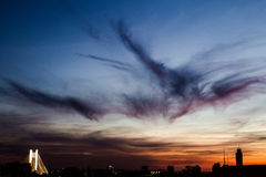 Sunset over Bucharest Royalty Free Stock Images