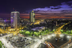 Sunset over Bucharest Stock Images