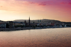 Sunset over Budapest Royalty Free Stock Image