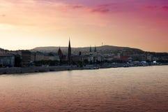 Sunset over Budapest Royalty Free Stock Image