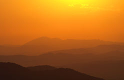Sunset over Bulgarian Mountains Stock Images