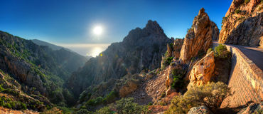 Sunset over Calanques de Piana Stock Photography