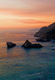 Sunset Over California Coast Stock Photography