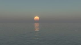 Calm sun setting Royalty Free Stock Photography