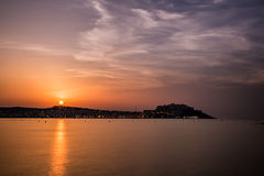 Sunset over Calvi in Balagne region of Corsica Stock Photography