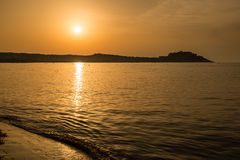 Sunset over Calvi in Balagne region of Corsica Stock Images
