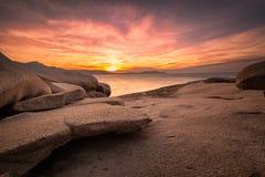 Sunset over Calvi in Corsica Stock Photos