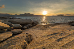 Sunset over Calvi in Corsica Stock Image