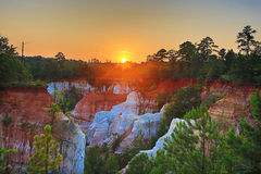 Sunset Over Canyons Royalty Free Stock Image