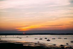 Sunset over Cape Cod Beach. Taken at sunset on Cape Cod Stock Images