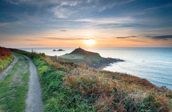 Sunset over Cape Cornwall Stock Photos