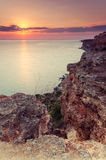 Sunset over cape Fiolent Royalty Free Stock Photo