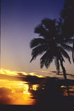 Sunset Over The Caribbean Royalty Free Stock Photo