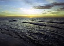 Sunset over Caribbean Sea - Bay of Pigs, Cuba stock photography