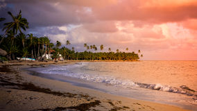 Sunset over Caribbean sea Stock Photos