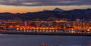 Sunset over Castellon, Spain Stock Photography