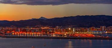 Sunset over Castellon, Spain Royalty Free Stock Photo