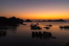 Sunset at Cat Ba Island Royalty Free Stock Photos