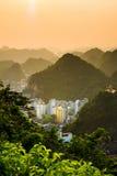 Sunset over Cat ba island of Vietnam, Asia Stock Images