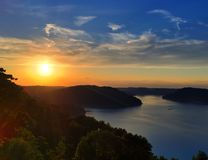 Sunset. Over Center Hill Lake Royalty Free Stock Photo